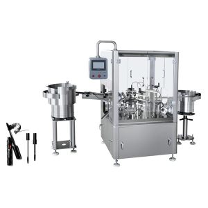 מכונת מילוי והתקנה של מכסת מסקרה אוטומטית
